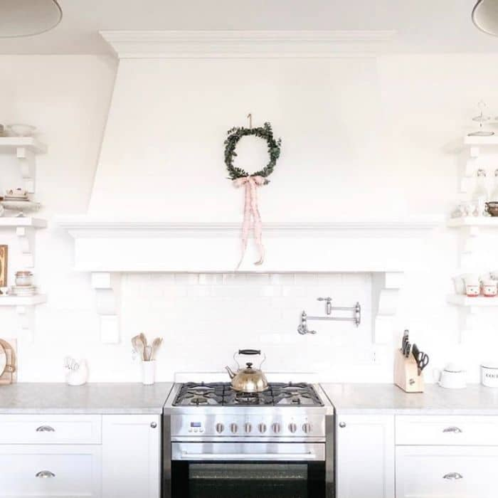 Benjamin Moore Oxford White on cabinets by House of Douglas