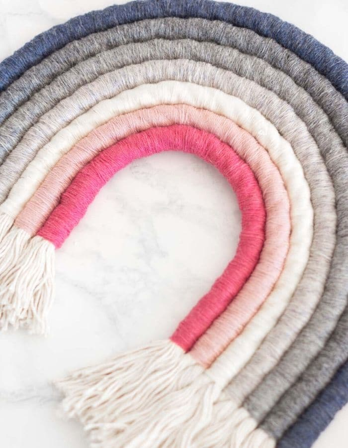 ROPE & STRING RAINBOW WALL DECOR PROJECT By Pure Sweet Joy