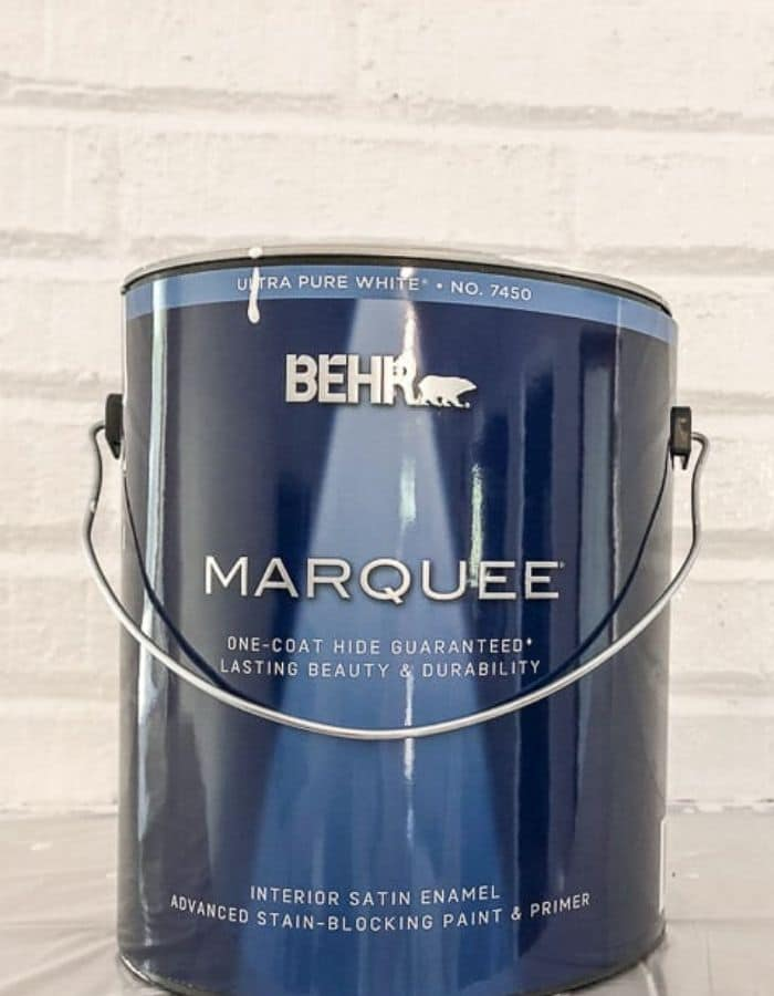 Behr paint satin enamel paint can