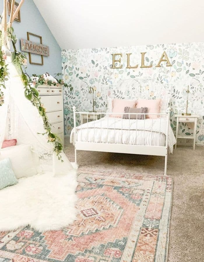 Floral Tent and More Little Girl Decor by Bless This Nest