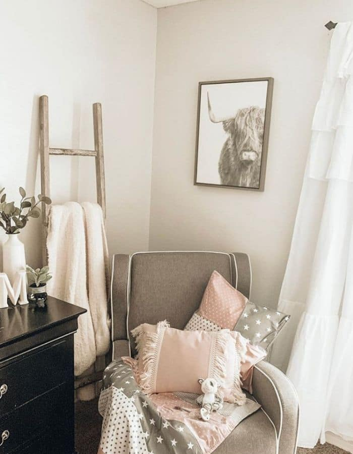 Farmhouse baby girl nursery by Wockome To My Life