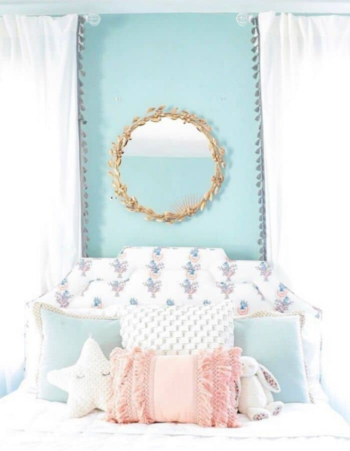 Turquoise Walls In A Little Girl Room by Jennifer Prod