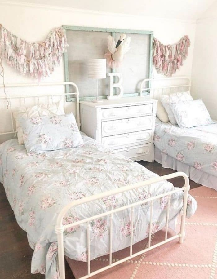 Adorable bedroom for two little girls by Jessica Joy Larson