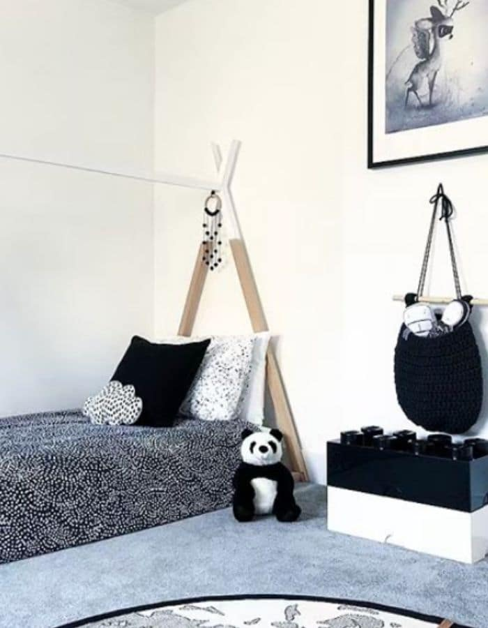 Teepee bed for a little boys room by At Home At Number Two