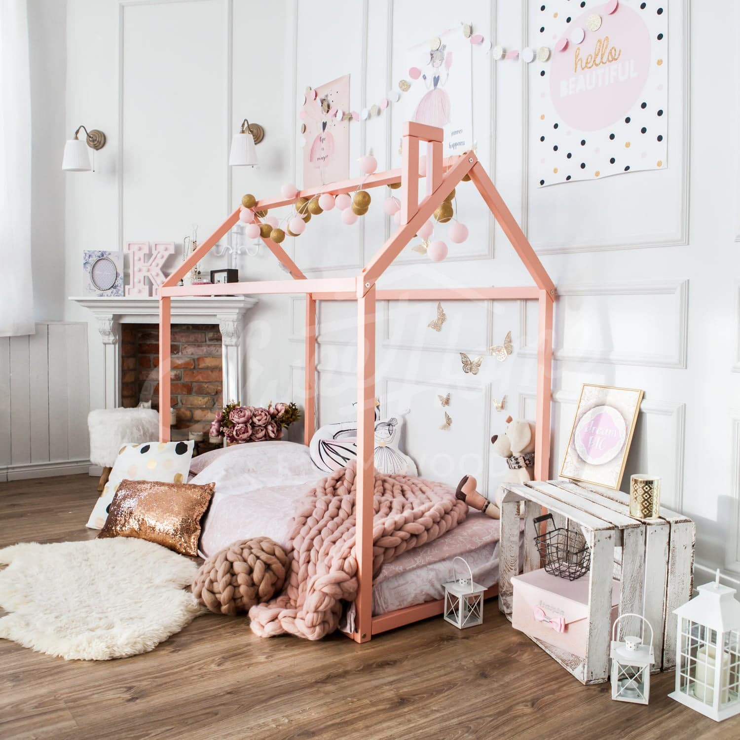 Toddler House Frame Bed