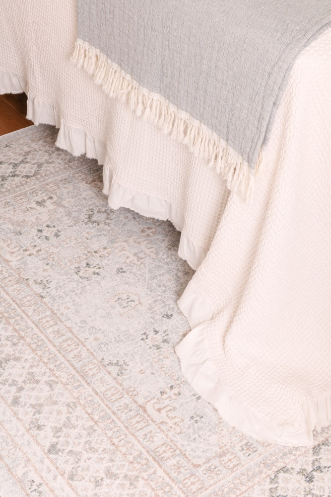 Guest bedroom muted rug