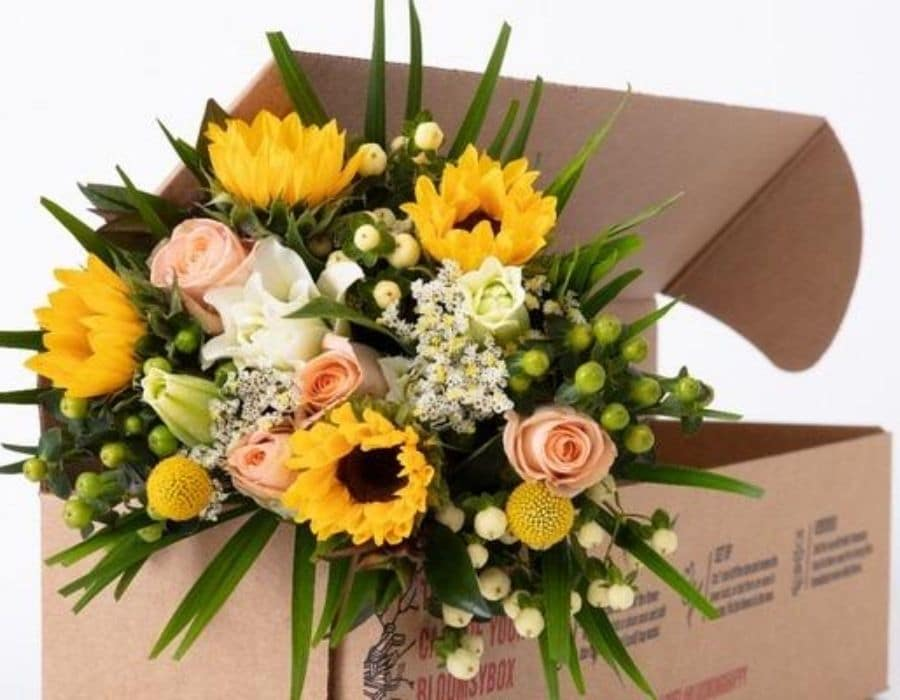 Bloomsy Box Bouquet of flowers inside a subscription box.