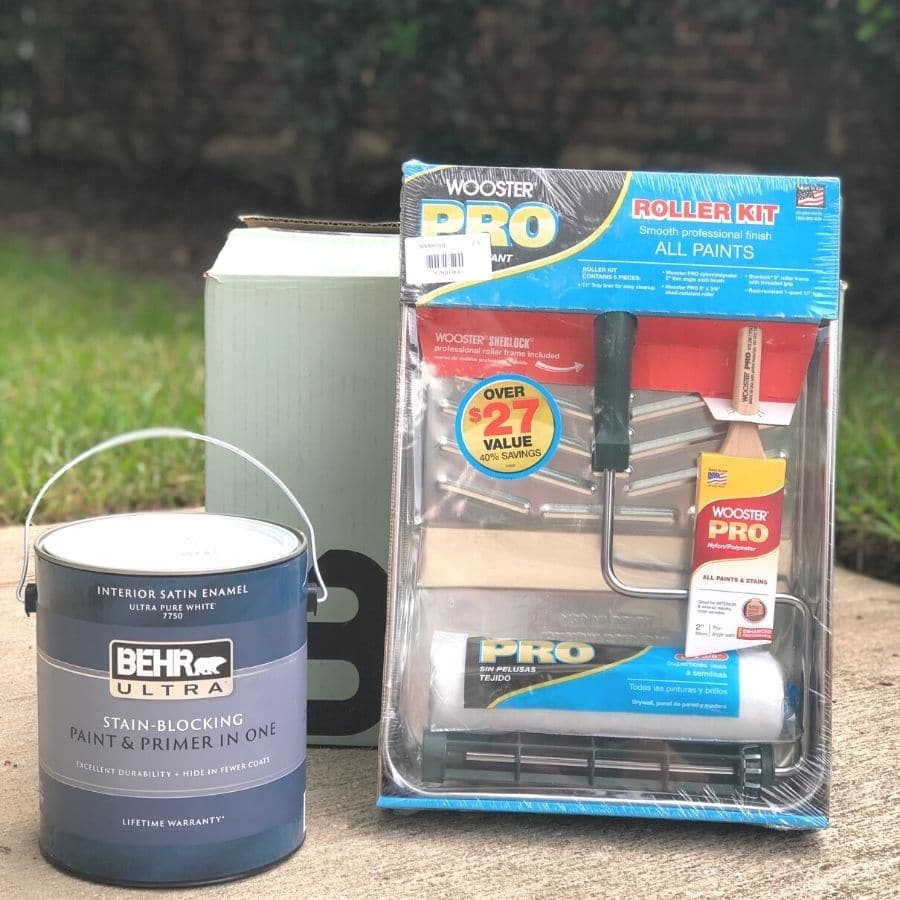 Behr ultra stain-blocking paint and brimer in one, wooster pro roller kit