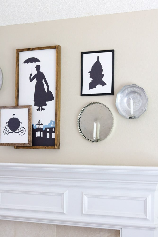 Silhouette Halloween mantle decorating idea
