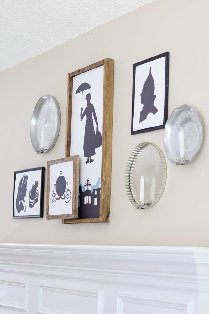 Silhouette Halloween Mantle DIY