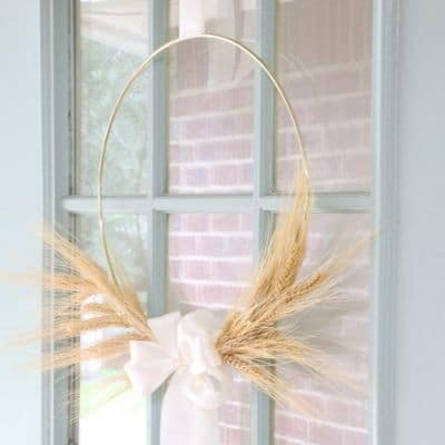 wheat wreath diy