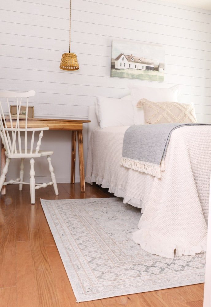 Farmhouse paint color at Life on Summerhill guest bedroom