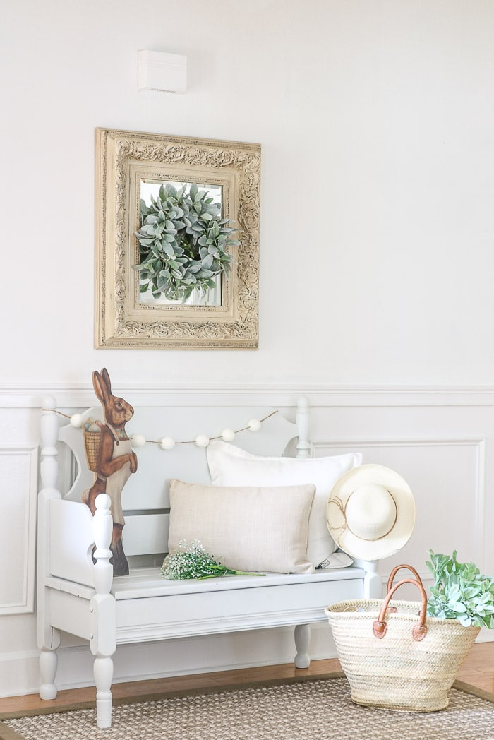 Decorating with wreaths on mirrors