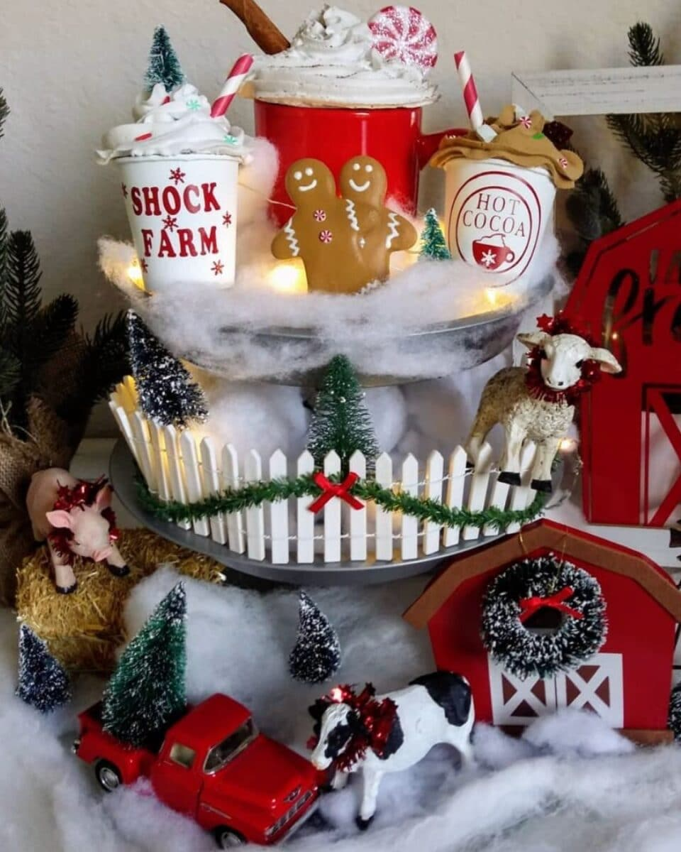 Christmas truck tiered tray by design.whip.cream.dreams