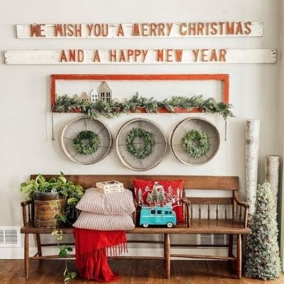 Vintage van Christmas decor idea