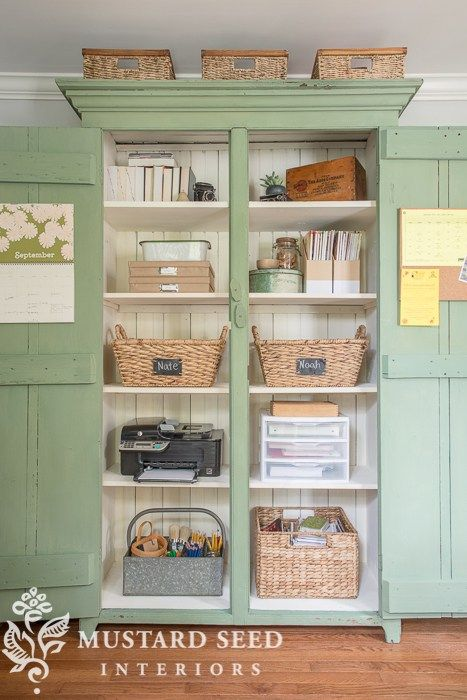 Office organizing display idea by MIss Mustard Seed