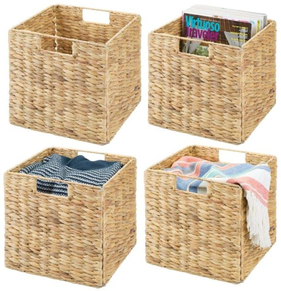 Storage baskets ideas from Amazon linen closet.
