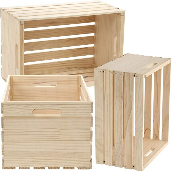 Wooden crate storage ideas