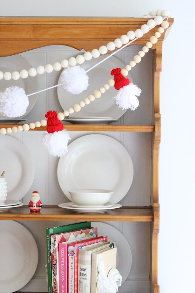 Yarn Santa Garland DIY