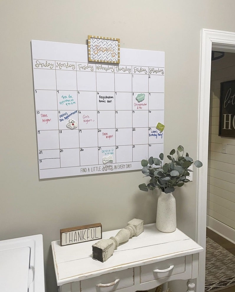 Great busy mom gift of a Magnetic calendar by Happy Everything