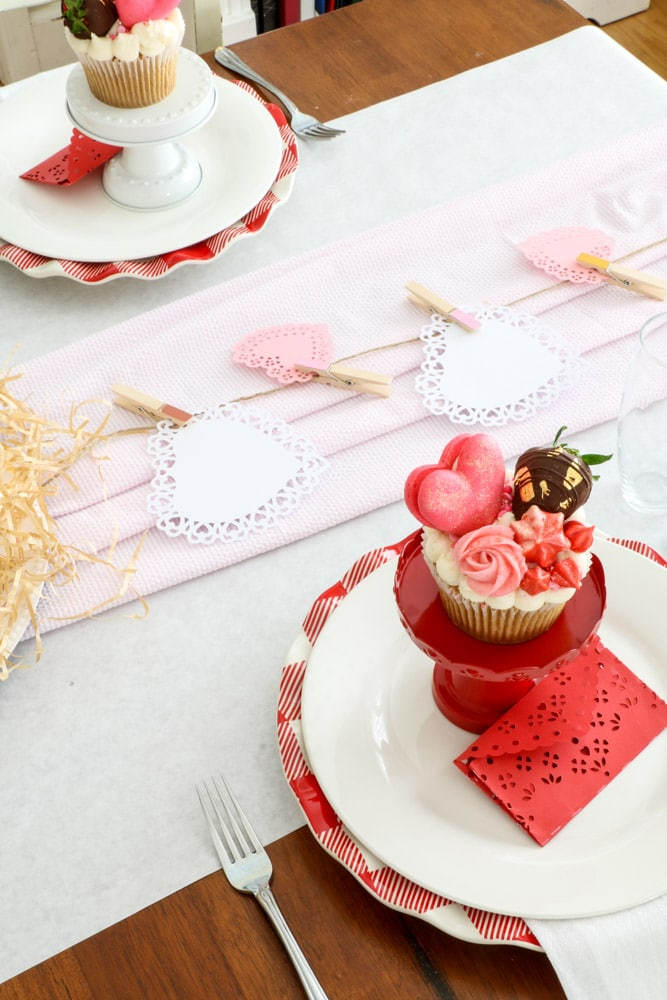 family valentine dinner ideas in pink, red and white