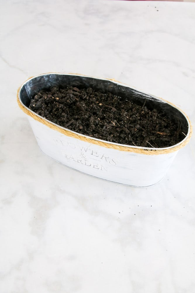 How to make a herb garden in the kitchen by adding soil over rock in a pot