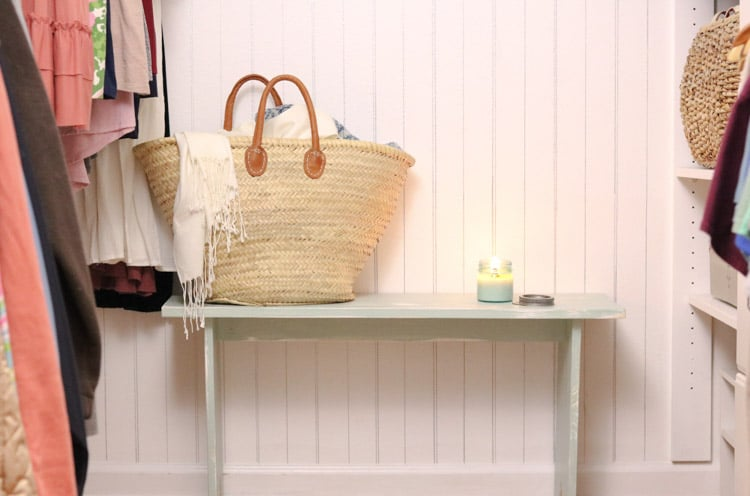 Decorations for organized small walk in closet