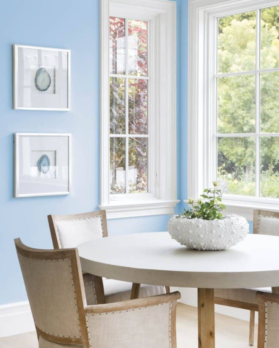 Dunn Edwards paint color of the year 2021.  Wild Blue Yonder