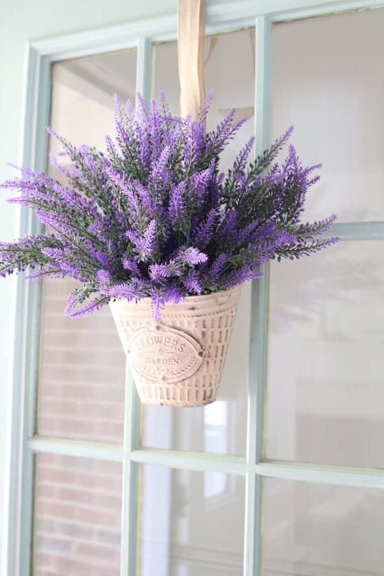 French lavender basket wreath gift idea for Mother's Day