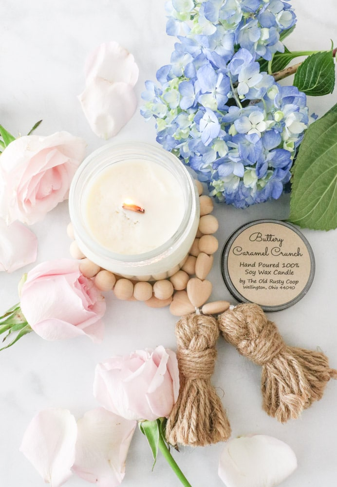 What ingredients are in clean burning candles