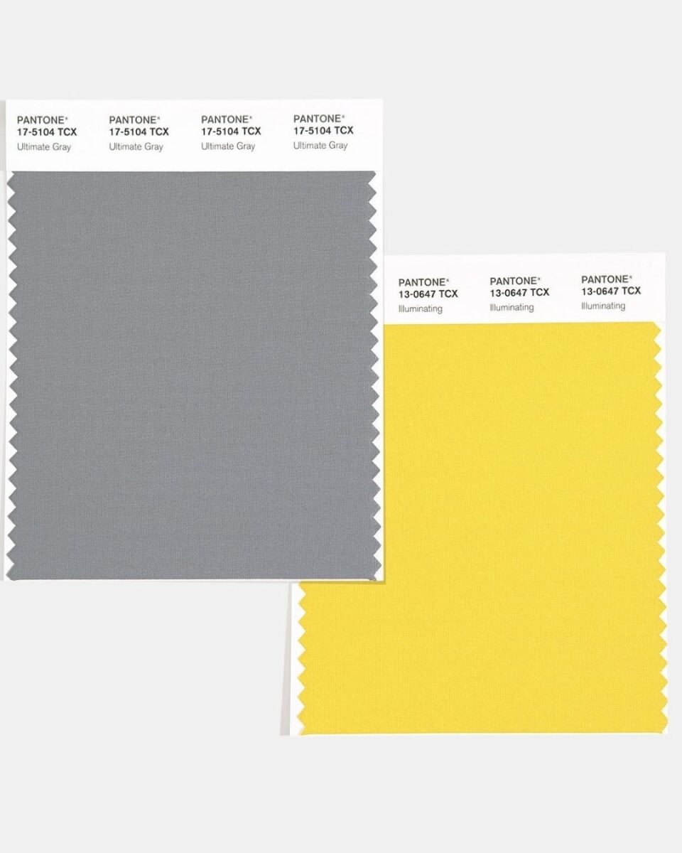 Pantone paint color of the year yellow and grey