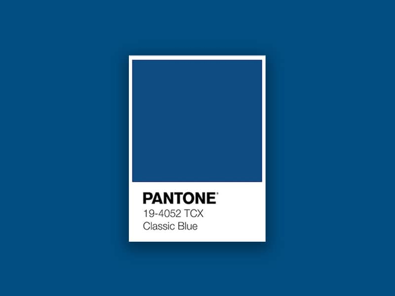 Classic Blue Pantone paint color of the year 2020