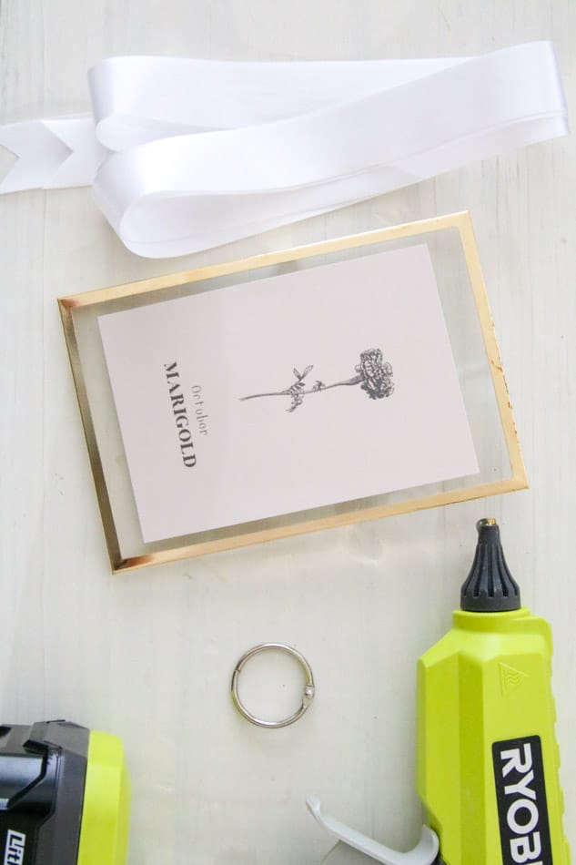 Mother's day printable DIY supplies for framed birth month flower prints