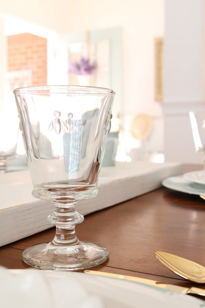 La Rochere bee glasses for a DIY Easter table setting