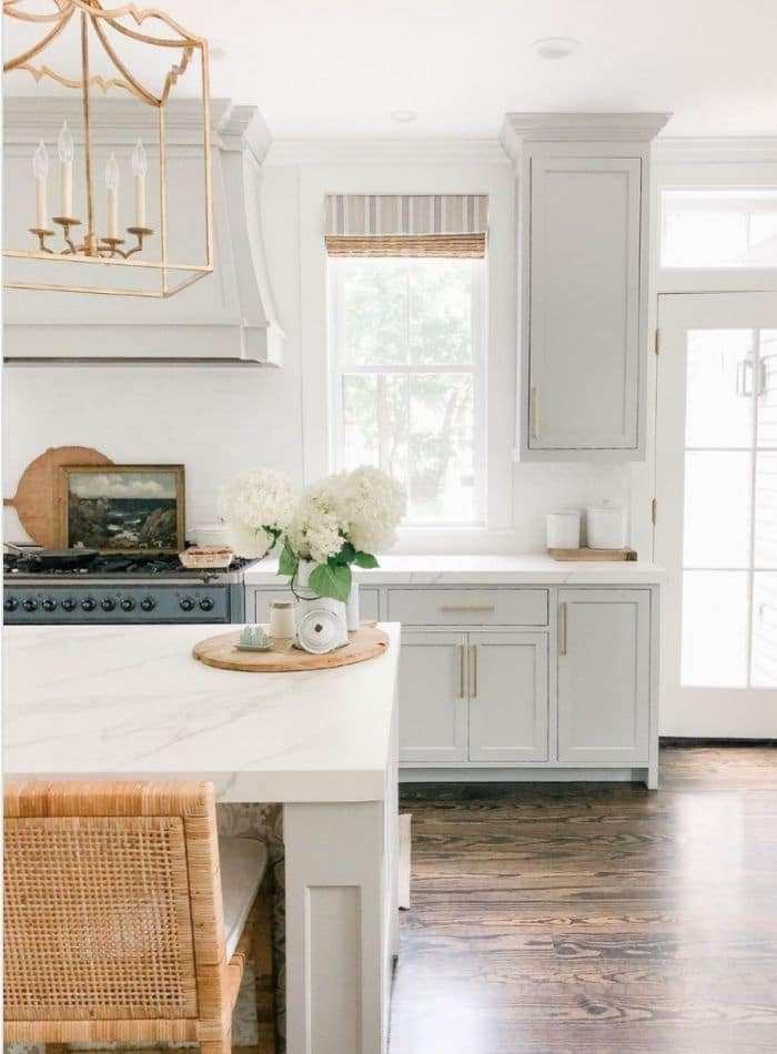 Sherwin Williams popular repose grey cabinets by Finding Lovely