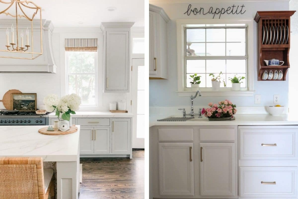 Sherwin Williams grey cabinet colors