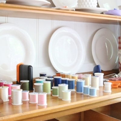 how to organize sewing supplies on a budget
