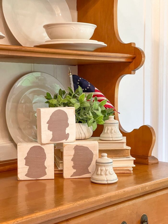 Presidents silhouette decorations