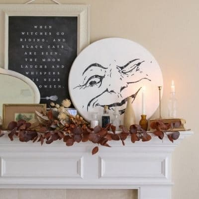 Halloween Witchcore Fireplace Mantle Idea