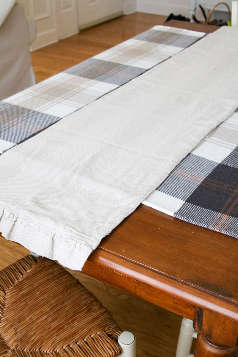 Drop cloth runner for fall table