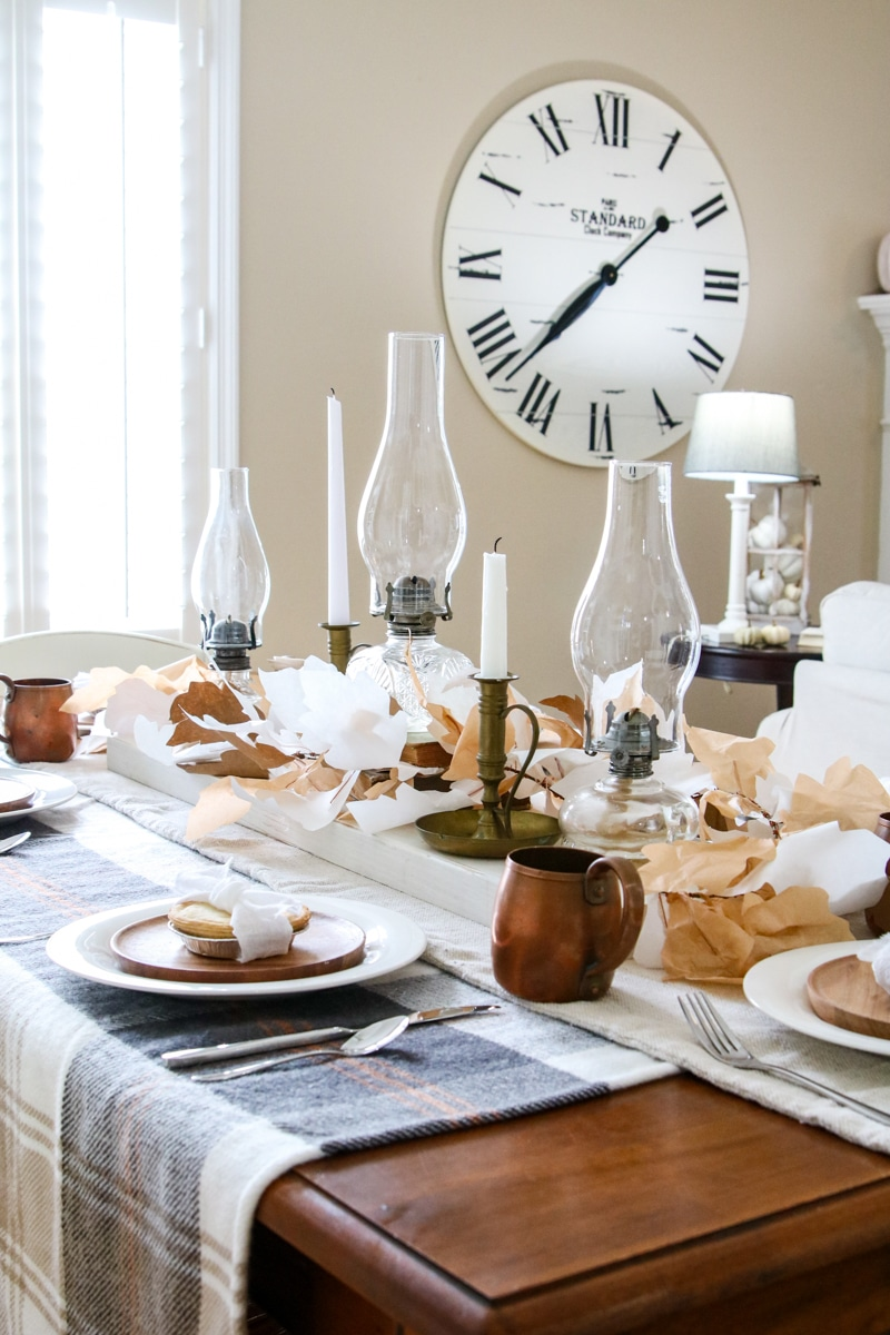 easy Thanksgiving fall tablescape