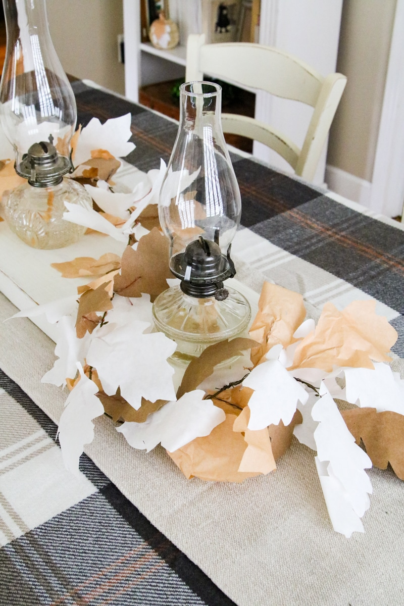 Fall paper decorations
